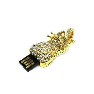 8GB Diamond Jewelry Cat Shaped USB Flash Drive Gold