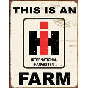 International Harvester Farm Metal Tin Sign Nostalgic