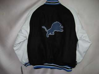Detroit Lions Reversible Varsity Jacket NFL YOUTH MEDIUM 10/12 $65