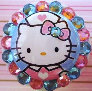 HELLO KITTY NURSE RETRACTABLE ID REEL BADGE HOLDER