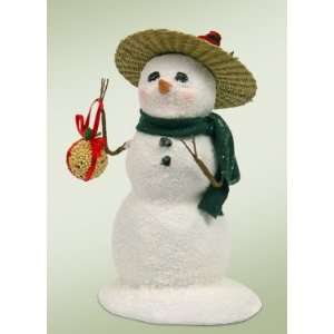 Byers Choice Carolers   Small Snowman with Birthseed Ball