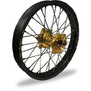 Pro Wheel Pro Wheel 1.85x19 MX Rear Wheel   Black Rim/Gold Hub , Color