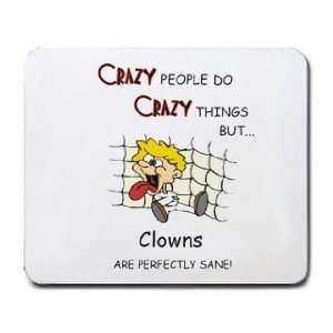 CRAZY PEOPLE DO CRAZY THINGS BUT Clowns ARE PERFECTLY SANE