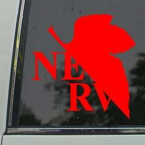 EVANGELION Red Decal NERV Anime Car Truck Window Red