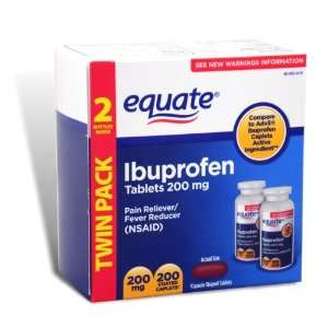 Equate   Ibuprofen Pain Reliever/Fever Reducer 200 mg, 200 Coated