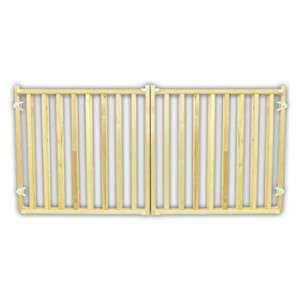 Four Paws Extra Wide Wood Safety Gate w/Vertical Wood