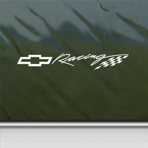 CHEVY BOWTIE RACING White Sticker Car Vinyl Window Laptop White Decal