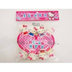 Hello Kitty Plastic Clip Set 8pcs Japan Imported Office