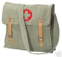 VINTAGE OD GREEN ARMY MILITARY MEDIC SHOULDER BAG NURSE FIRST AID NWT