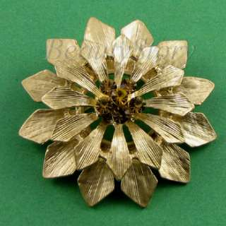 ADDL Item  Austrian rhinestone crystal flower brooch pin