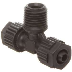 Polypropylene Compression Tube Fitting, Tee Adapter, Black, 6 mm Tube