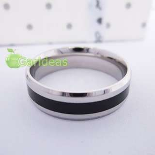 Mens Black&Silver Stainless Steel Ring Item ID2002 US Size 7 8 9 10