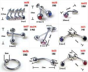 NEW 36pcs 9style Wholesale body jewelry Mix Lots Navel Rings