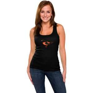 Baltimore Orioles Womens Black Primary Logo Fashion Rib