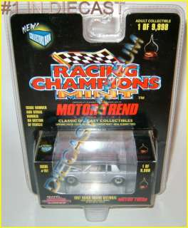 1987 87 BUICK GRAND NATIONAL MOTOR TREND RACING CHAMPIONS MINT RC