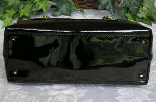 KATE SPADE MONTROSE PATENT LEATHER ANTOINETTE BAG PURSE BLACK NWT