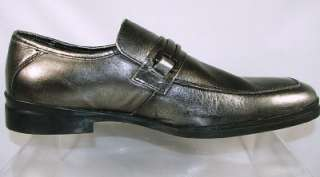 Kenneth Cole Reaction Mens Heir To Empire Leather Loafer Shoes Pewter