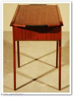 VINTAGE 60´s DANISH MODERN TEAK SEWING STORAGE TABLE