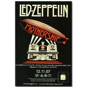 Led Zeppelin Poster   Album Promo Flyer   Mothership 11 X