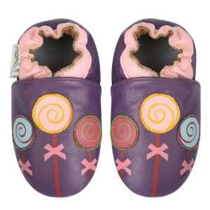Momo Baby Soft Sole Baby Shoes   Lollipop Purple 12 18