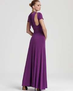 new $348 BCBG MAX AZRIA LULU CUTOUT Jersey EVENING DRESS Gown Orchid