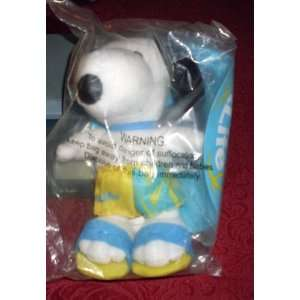 RARE Metlife Peanuts Plush 7 SNOOPY Doll with SWIM RING