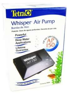 Tetra Whisper AP 150 Air Pump ~ Aquarium Fish Tank