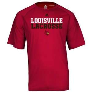 Louisville Cardinals Red adidas Official Lacrosse Practice