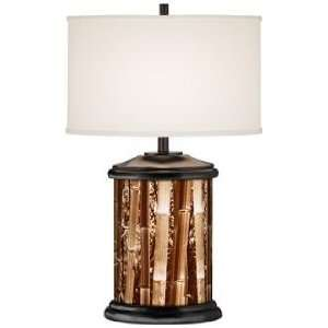 Bamboo Forest Giclee Art Base Table Lamp