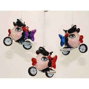 Collection Biker motorcycle fish Kissing fish Christmas ornament 4