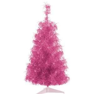 Curly Tinsel Artificial Christmas Tree   Clear Lights