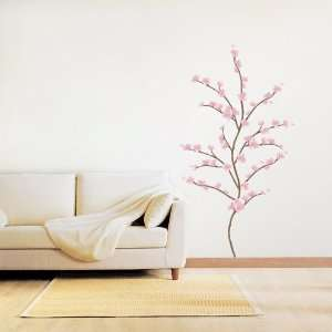 Modern House Japanese Cherry Blossom removable Vinyl Mural Art