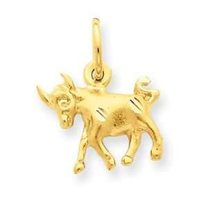 14k Taurus Zodiac Charm   Measures 12x14mm   JewelryWeb