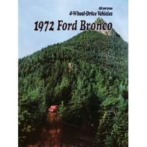 1972 FORD BRONCO Sales Brochure Literature Book Piece