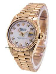 Rolex President Datejust 18k Yellow Gold Ladies