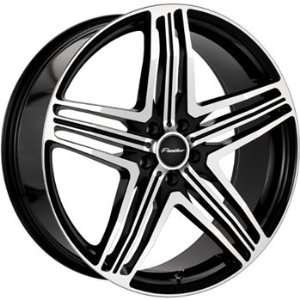 Menzari Sterzo 18x8 Black Wheel / Rim 5x115 with a 35mm Offset and a