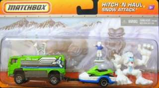 Matchbox Hitch N Haul Snow Attack 2 vehicles & accessories set MOC