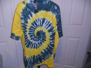 New Green Bay PACKERS Mens 4XLARGE 4XL Funky Tie Dyed T Shirt 5TX