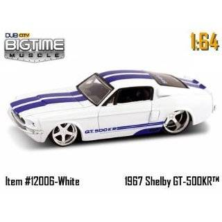 Dub City Big Time Muscle White 1967 Shelby GT 500KR 164 Die Cast Car