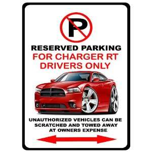 2012 13 Dodge Charger RT Muscle Car toon No Parking Sign