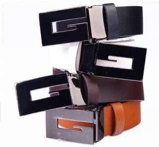 Colors Mens PU leather Casual Business Dress Waist Belt 115cm Free
