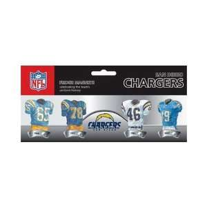 NFL San Diego Chargers 4 Pack Uniform Magnet Set Sports