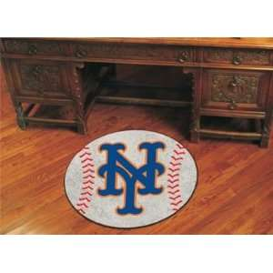 New York Mets Baseball Floor Mat 29 Round