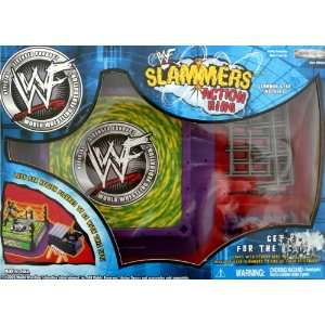 WWE WWF SLAMMERS ACTION RING, CAGE & TITLE BELT For 3 Inch Figures