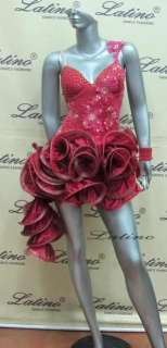 LATIN SALSA(BALLROOM) COMPETITION DRESS SIZE M (LT461A)