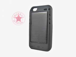 Solar Powered Portable Battery Charger Case for iPhone 4 4S