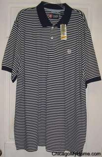 Ralph Lauren Mens Short Sleeve Stripe Cotton Polo Shirt Big Tall Large