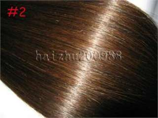 18/20 7pcs Clip In Real Human Hair Extensions Multiple in 4 Colors
