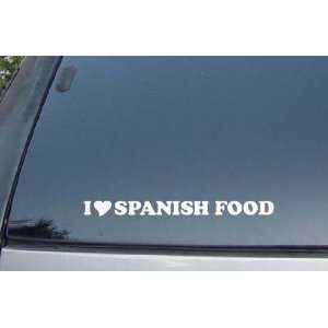 I Love Spanish Food Vinyl Decal Stickers