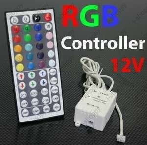 44 Button RGB Color Changing Strip LED Light Controller IR Remote